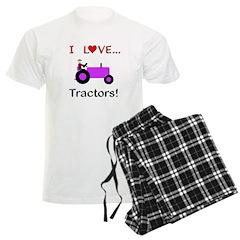 I Love Purple Tractors Pajamas