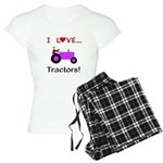 I Love Purple Tractors Women's Light Pajamas