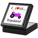 I Love Purple Tractors Keepsake Box