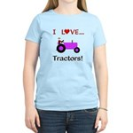 I Love Purple Tractors Women's Light T-Shirt