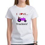 I Love Purple Tractors Women's T-Shirt