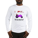 I Love Purple Tractors Long Sleeve T-Shirt
