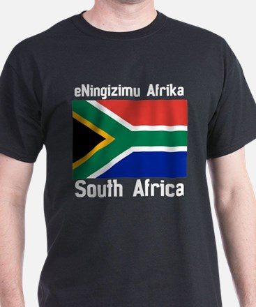 South African Dark (F+B) T-Shirt