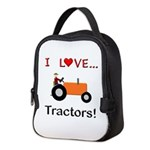 I Love Orange Tractors Neoprene Lunch Bag