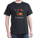 I Love Orange Tractors Dark T-Shirt