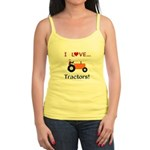 I Love Orange Tractors Jr. Spaghetti Tank