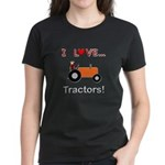 I Love Orange Tractors Women's Dark T-Shirt
