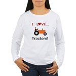 I Love Orange Tractors Women's Long Sleeve T-Shirt