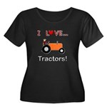 I Love Orange Tractors Women's Plus Size Scoop Nec
