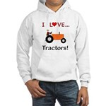 I Love Orange Tractors Hooded Sweatshirt