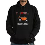 I Love Orange Tractors Hoodie (dark)