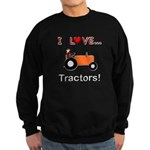 I Love Orange Tractors Sweatshirt (dark)