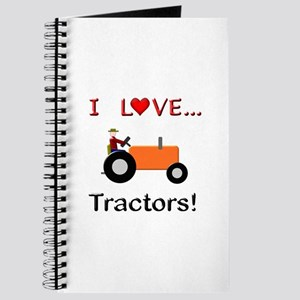 I Love Orange Tractors Journal