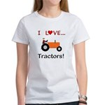 I Love Orange Tractors Women's T-Shirt