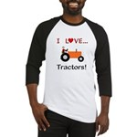 I Love Orange Tractors Baseball Jersey