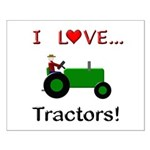 I Love Green Tractors Small Poster