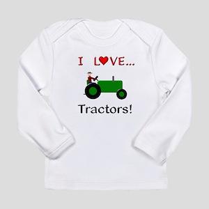 I Love Green Tractors Long Sleeve Infant T-Shirt