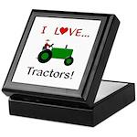I Love Green Tractors Keepsake Box