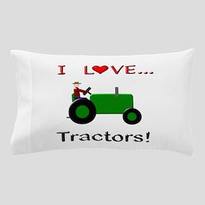 I Love Green Tractors Pillow Case