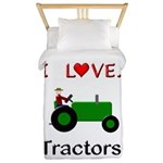 I Love Green Tractors Twin Duvet