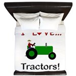 I Love Green Tractors King Duvet