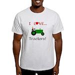 I Love Green Tractors Light T-Shirt