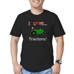 I Love Green Tractors Men's Fitted T-Shirt (dark)