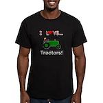I Love Green Tractors Men's Fitted T-Shirt (dark)