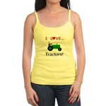 I Love Green Tractors Jr. Spaghetti Tank