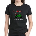 I Love Green Tractors Women's Dark T-Shirt
