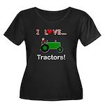 I Love Green Tractors Women's Plus Size Scoop Neck