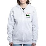 I Love Green Tractors Women's Zip Hoodie