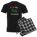 I Love Green Tractors Men's Dark Pajamas
