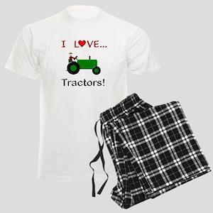 I Love Green Tractors Men's Light Pajamas
