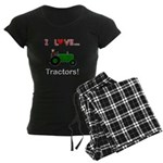 I Love Green Tractors Women's Dark Pajamas