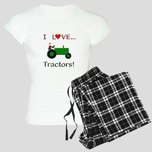 I Love Green Tractors Women s Light Pajamas 940c61303