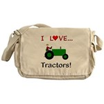 I Love Green Tractors Messenger Bag