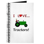 I Love Green Tractors Journal