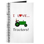 I Love Green Tractors Journal