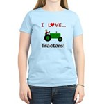 I Love Green Tractors Women's Light T-Shirt