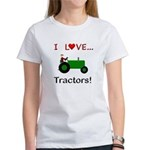 I Love Green Tractors Women's T-Shirt