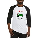 I Love Green Tractors Baseball Jersey