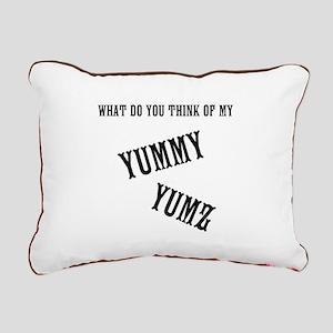 I Love Your Yummy Yumz Rectangular Canvas Pillow