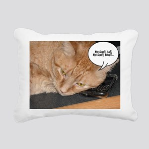 Orange Tabby Cat Cell Phone Humor Rectangular Canv