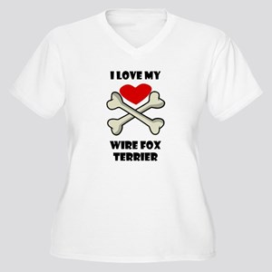 I Love My Wire Fox Terrier Plus Size T-Shirt