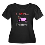 I Love Pink Tractors Women's Plus Size Scoop Neck