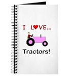 I Love Pink Tractors Journal