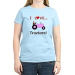 I Love Pink Tractors Women's Light T-Shirt