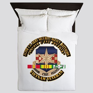 313th USA SAB w SVC Ribbon Queen Duvet