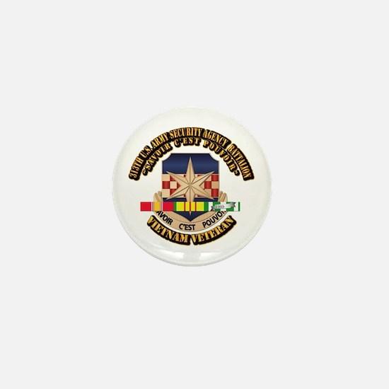 313th USA SAB w SVC Ribbon Mini Button